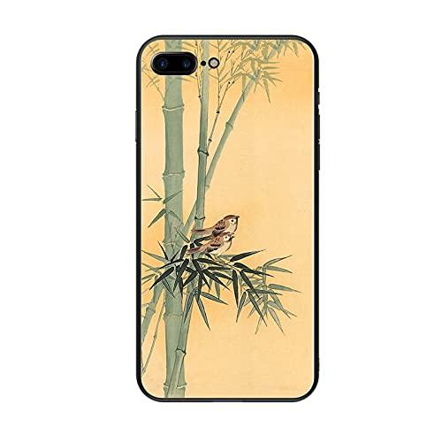 Generic Men con Bamboo 1 Guscio Duro del Telefono ABS Compatibile per Apple iPhone 6 6S Creativo