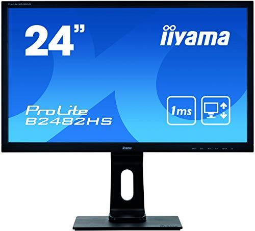 Iiyama Prolite B2482HS-B5 61 cm (24 Zoll) LED-Monitor Full-HD (VGA, DVI, HDMI, Höhenverstellung, Pivot) schwarz