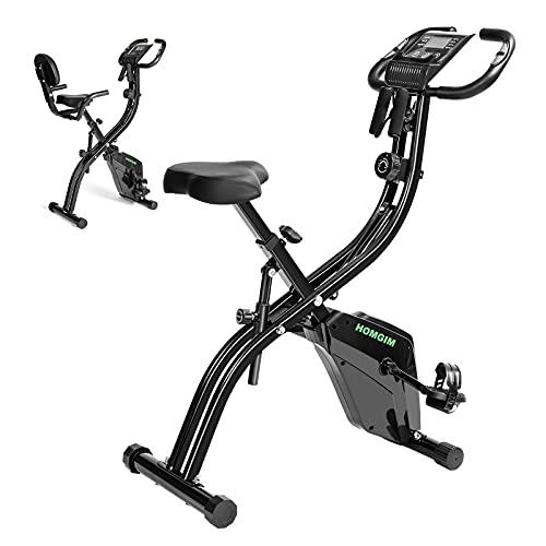 HOMGIM Indoor Cycling Bike Folding Magnetic Upright Bike Stationary Bike Recumbent Exercise Bike