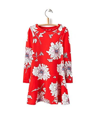 Joules Sukienka trapezowa - czerwona piwonia kwiatowa