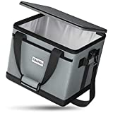 OlarHike Cooler Bag Lunch Bag, Collapsible and Insulated Lunch Box Leakproof Cooler Bag for Camping, Picnic, BBQ (40-Can, Grey)