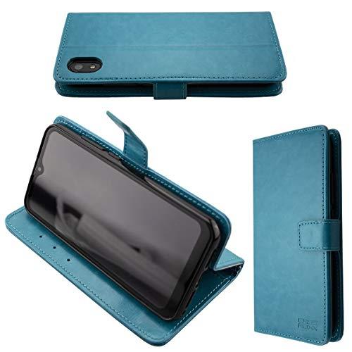 Casco para Gigaset GS110, Bookstyle-Case Funda Protectora a Prueba de Golpes para Smartphone (Carcasa de Color Azul Claro)