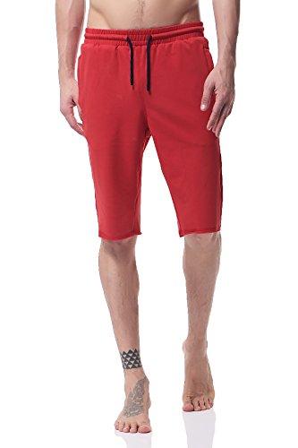 Pau1Hami1ton Pantaloncini Sportivi da Uomo, Pantaloni Corti in Cotone, Jogging Tennis Corsa Fitness e Allenamento PH-21(S, Orange)