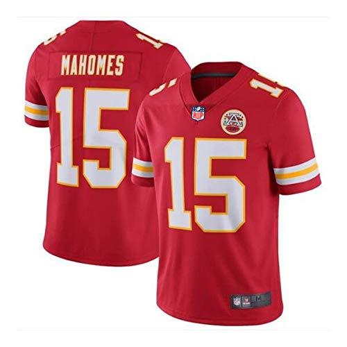 WFGY NFL 15# Mahomes Jersey Kansas Chefs Männer Kurzarm Fußball Trikots Sportbekleidung Sport Jersey Top,Men,XL