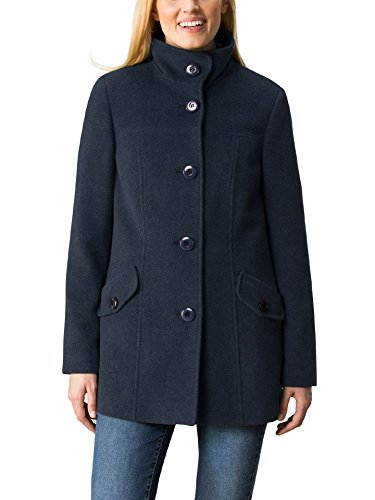 Walbusch Damen Wolljacke Cashmere Mix einfarbig Jeansblau 44