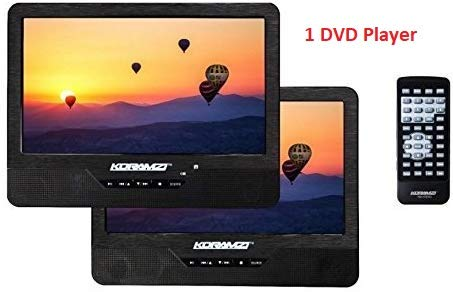 Great Features Of Koramzi PDVD-DK95 Portable 9 Dual Screen (One DVD) with Rechargeable Battery / AC...