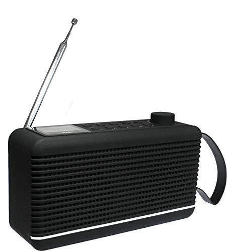 Sky Vision DAB Radio 30 G - Tragbares Digitalradio und Bluetooth Lautsprecher in Einem, Outdoor, DAB+, FM/UKW Tuner (Rubber Touch - gummierte Oberfläche), DAB 30 G, Schwarz