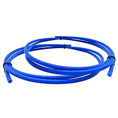 2 Pieces 3D Printer Teflon Tube For Nozzle (1 Meter), PTFE Blue Tubing 1.75mm Filament ID1.9mm and OD4mm TL-Feeder Hotend For Reprap Rostock Bowden Extruder