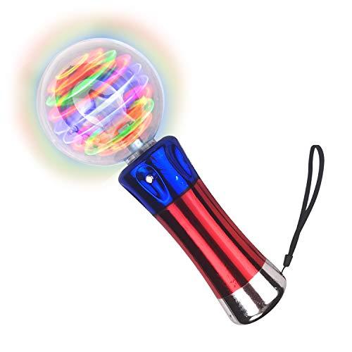 Flashing LED Magic Spinning Ball – Flashing Wand for Kids Aged 3+ – Spinning Magic Wand Toy For...