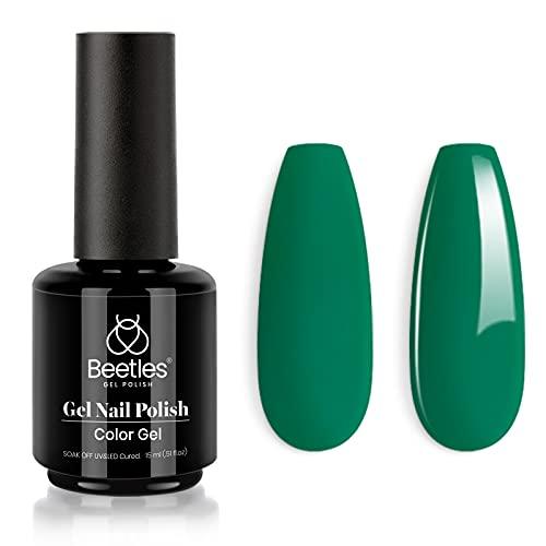 Beetles Gel Nail Polish, 1 Pcs 15ml green Color Soak Off Gel Polish Nail Art Manicure Salon DIY at Home