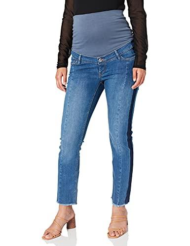 Esprit Maternity Pants DNM OTB STR 7/8 Jeans Premaman, Blu (Medium Wash 960), W27 (Taglia Produttore: 34) Donna