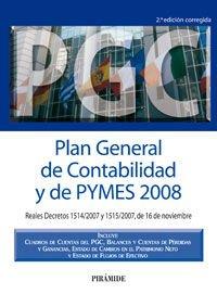 Plan General De Contabilidad Y De Pymes 2008 (2ª Ed.) (Economia Y Empresa)