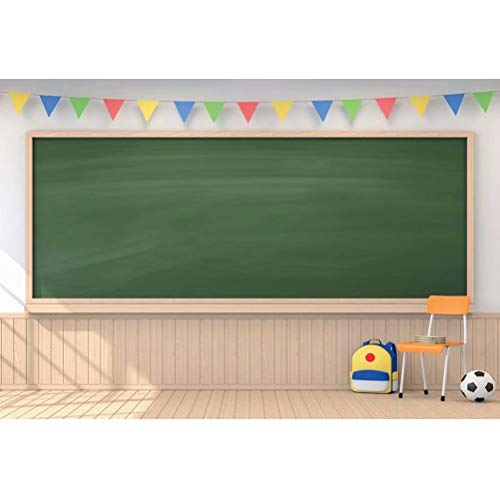 DaShan 6x4ft Polyester Chalkboard Teacher Classroom Backdrop for Online Teaching Online Course First Day of School Back to School Photography Background Study Education Grad Student YouTube Photo Prop