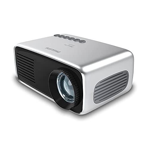 Philips NeoPix Start+,mini proyector,650 lúmenes LED,tamaño de imagen de 60,reproductor multimedia integrado y batería...