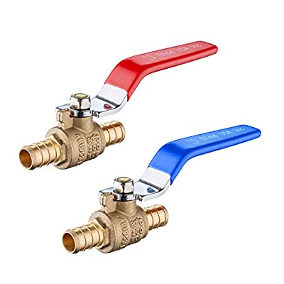 (Pack of 2) EFIELD 3/4 Inch Pex Brass Full Port Shut Off Ball Valve HOT AND COLD, No Lead Brass UPC Certified-2 Pieces from Efield
