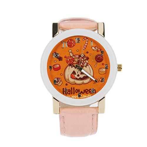 Reloj de Moda para Mujer de Halloween Reloj de Pulsera de Cuarzo de aleacin de Escala Elegante Reloj de Pulsera de Cuarzo Hermoso Reloj para Mujer-Disfraz de Halloween