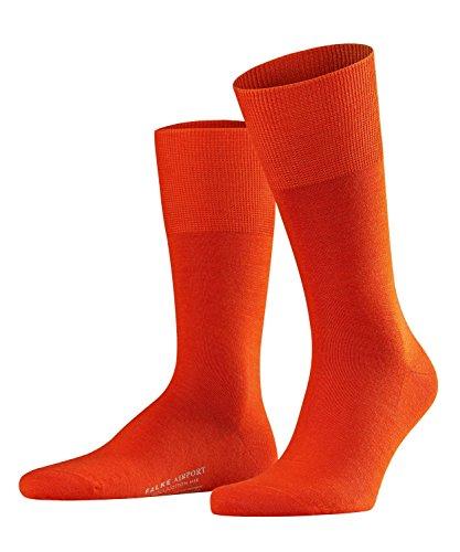 FALKE Herren Airport M SO Socken, Blickdicht, Rot (Ziegel 8095), 43-44 (UK 8.5-9.5 Ι US 9.5-10.5)