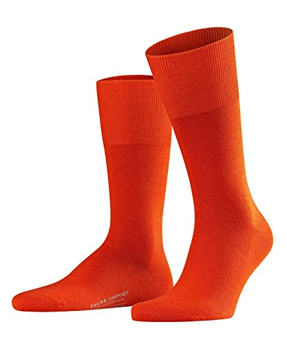 FALKE Herren Socken Airport - Merinowoll-/Baumwollmischung, 1 Paar, Rot (Ziegel 8095), 43-44