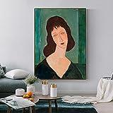 Amedeo Modigliani Minimalista Abstarct Mujeres europeas Dama Retrato Lienzo Pintura Arte de la pared Póster Impresiones Sala de estar Oficina Estudio Decoración para el hogar Mural