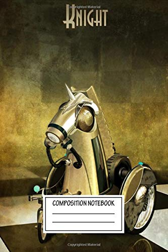 Composition Notebook: Gaming Knight Punk Chess Wide Ruled Note Book, Diary, Planner, Journal for Writing