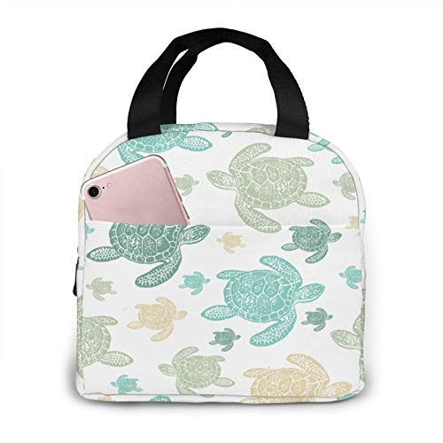 Green Sea Turtles Lunch Bag Lunch Box Container Reusable Portable Insulated Lunch Tote To Work Pinic Or Travel Fitness For Adults Men Women
