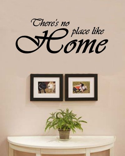 There's no place like home love family Vinyl Wall Decals Quotes Sayings Words Art Decor Lettering Vinyl Wall Art Inspirational Uplifting