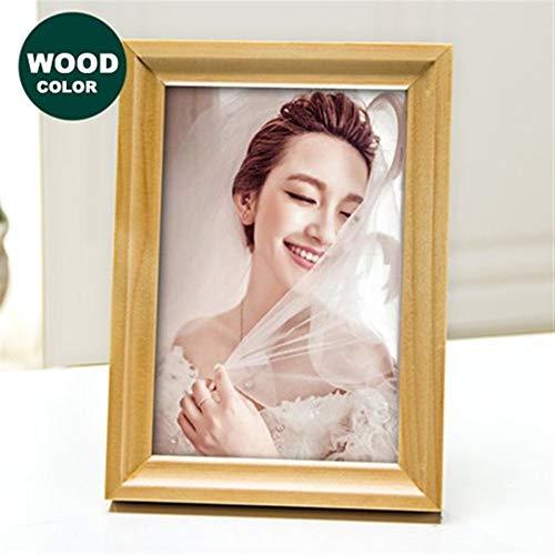 XY399 graden Houten frame Natuur Effen Houten Fotolijst A4 30X40cm Zwart Wit Koffie Houten Frame Muur Opknoping Fotolijst Poster Frames Voor Afbeeldingen