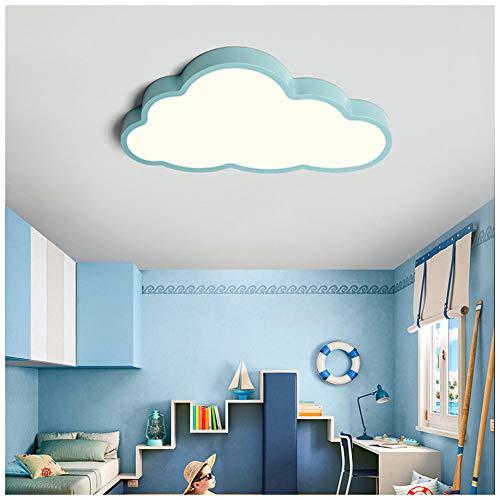 ROCCY 36W Luz de Techo LED,Lámpara De Techo LED Ultrafino 5cm Nubes Creativas Luz De Techo Lámpara De Niños Niños Y Niñas Lámpara De Dormitorio Lámpara Romántica De Techo De Animados Plafón,Az