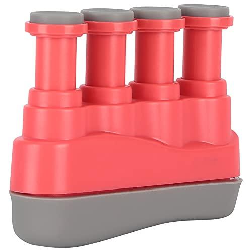 Rinforzo per le dita, attrezzo ginnico portatile per mani in silicone per fisioterapia per l'allenamento dello strumento(rosa)