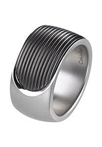 Calvin Klein Herren-Herrenring Edelstahl 65 Silber/schwarz 32004242