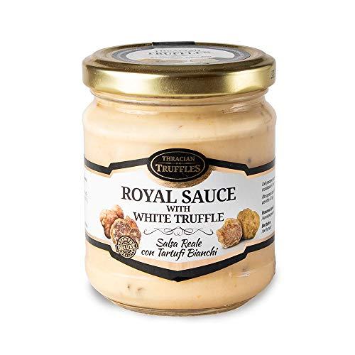 White truffle sauce ? ROYAL ? Witte truffelsaus Tuber borchi en Tuber Magnatum Pico met Room en Kaas, Ideaal voor Vlees, Gegrild Brood, Omeletten, Pasta, Risotto, Sushi 180g