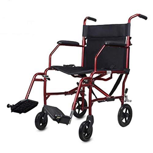 Sillas de ruedas autopropulsadas, dispositivo de movilidad plegable para un transporte interior ajustado y fácil almacenamiento, silla de ruedas compacta para usuarios mayores, discapacitados y disca