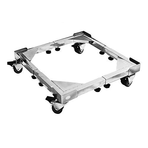 Base de acero inoxidable con 4x2 Lavadora de tambor de rueda móvil bloqueable Base de estante Almohadilla universal Estante alto