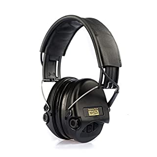 MSA Sordin Supreme Pro X - Premium Edition - Electronic Earmuff with black leather band, black cups and gel seals fitted (B00P63NMJC) | Amazon price tracker / tracking, Amazon price history charts, Amazon price watches, Amazon price drop alerts