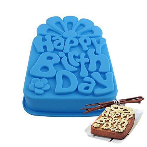 FantasyDay® Premium Silikon Backform/Muffinform für Muffins, Cupcakes, Kuchen, Pudding, Eiswürfel und Gelee - Quadratische Brotbackform für eindrucksvolle Kreationen, hochwertige Silikon-Kuchenform