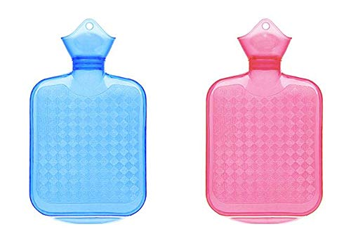Hot Water Bottle with Cover, Durable Ice Packs for Injuries with Natural Rubber BPA Free, Portable Hand Warmer as Icing Bags for Cold Compress, Reusable Hot Water Bag for Pain Relief (28oz Set)