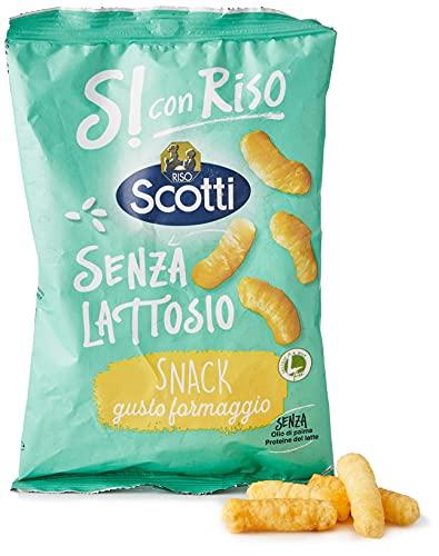 Si con Riso - Patatine di Riso Gusto Formaggio - Snack Senza Lattosio, Senza Glutine - 40 gr