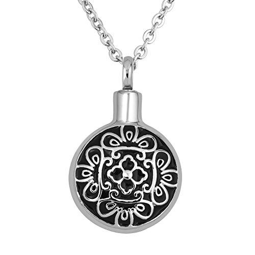 Infinite Memories Celtic Flower Pendant Urn Necklace for Cremation Ashes Women Mem