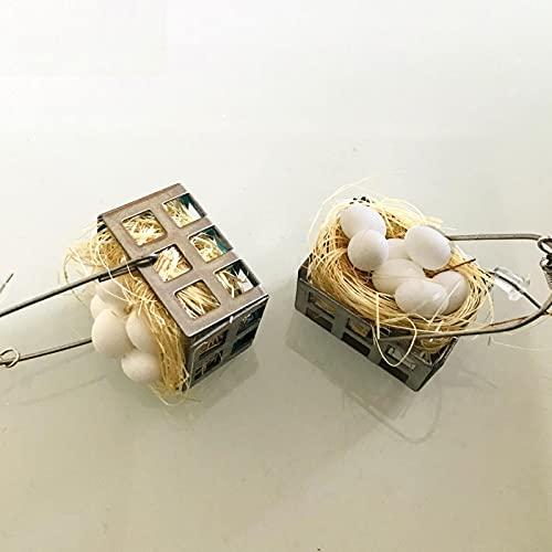 SALAN 1 Par Novedad Divertida Mini Cesta De Huevos Pendientes Raros Mujer Creativa Hecha A Mano Nueva Fiesta De Navidad Divertidos Pendientes