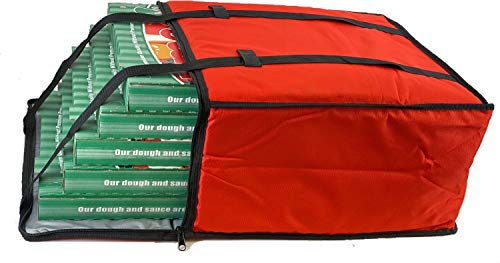 Pizza Delivery Bag, Insulated Reusable Grocery Bag | Ideal for Uber Eats, Instacart, Doordash, Grubhub, Postmates, Restaurant, Catering, Grocery Transport