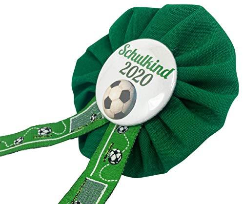 AnneSvea Orden Schulkind 2020 grün Fußball Einschulung Schultüte Zuckertüte Deko Geschenk Mitbringsel Anstecker Fussball