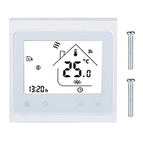 Thermostaat, LCD-touchscreen WiFi Slimme thermostaat Temperatuurregelaar voor vloerverwarming 95-240V