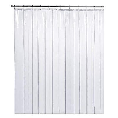 "LiBa PEVA 8G Bathroom Shower Curtain Liner, 72"" W x 84"" H Clear 8G Heavy Duty Waterproof Shower Curtain Liner Anti-Microbial Mildew Resistant"