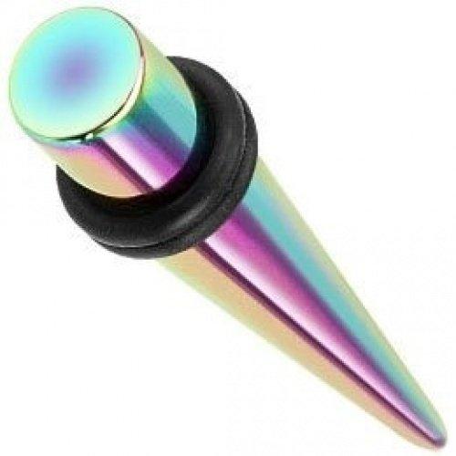 Rainbow droite en acier inoxydable chirurgical oreille Écarteur Plugs