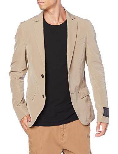 (ディーゼル) DIESEL メンズ ジャケット ラベルデザイン コットン テーラード ジャケット A002740SAZP 44 ライトブラウン 7CS