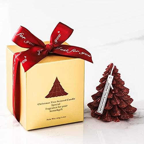 Vela de aromaterapia con Fragancia de piña de árbol de Navidad Judyd para Viajes a casa, Boda, una Vela perfumada de árbol de Navidad, A