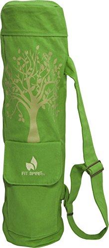 Ajuste espíritu ejercicio árbol de vida estera de Yoga bolsa w/2 bolsillos Cargo - elige tu Color Verde verde