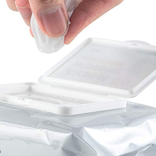 FANPING Antibakteriell 75% Alkoholtupfer for Hand, Tel.-Bildschirm, Wunde, Packung mit 50 Stück, Antiseptikum und Einweghandalkoholtupfer for Reinigung Bakterien und Schadstoffe, Sanitär Antibakteriel - 5