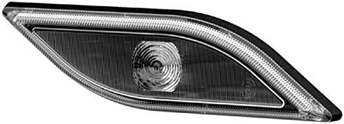 HELLA 2PF 013 324-041 Positionsleuchte - Shapeline Style Small - LED - 12V/24V - Lichtscheibenfarbe: grau - geklebt - Kabel: 250mm - Einbauort: vorne rechts