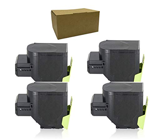YOUTOP 4 Color Toner Toner Toner Compatible C2425 Compatible Lexmark MC2325adw MC2325 MC2425adw MC2425 MC2535adwe MC2535 MC2640adwe MC2640 C2325DW 1000 Páginas